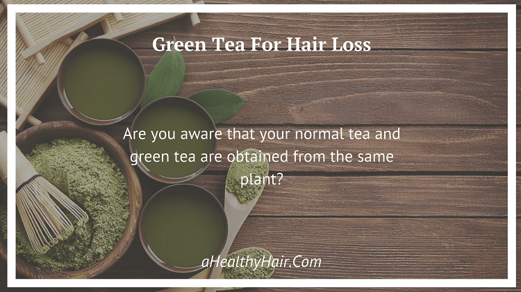 Green Tea can fight Hair Loss