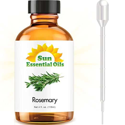 Rosemary (Large 4 ounce) Best Essential Oil for hair loss