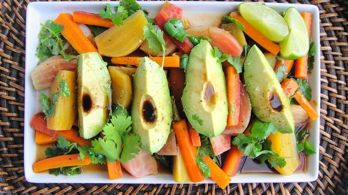 Carrot and Avocado Salad for hair loss
