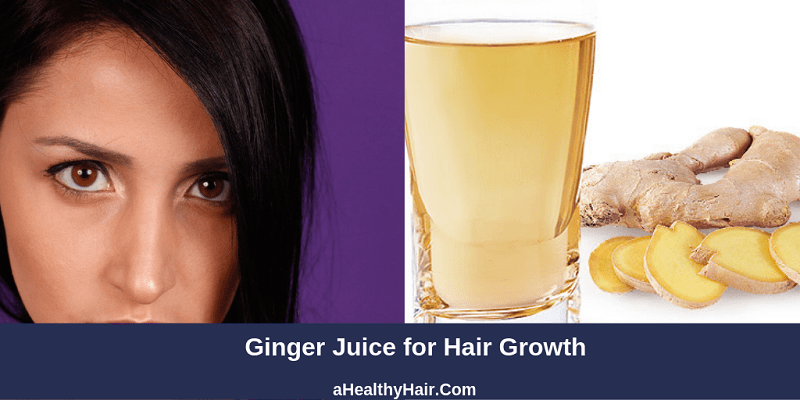 ginger juice for hair growth