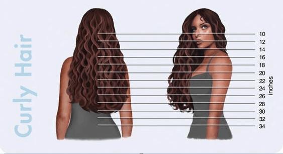 curly hair length